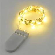 2W-os lámpák 200 lm akkumulátor v 2 m 20 LED-ek meleg fehér fehér rgb piros sárga kék zöld