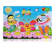 Legpuzzels Houten puzzels Bouw blokken DHZ-speelgoed Vlinder