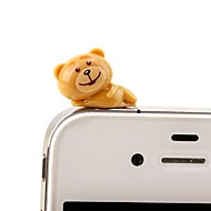 anti-dust plug diy bear rajzfilm játék pvc diy iphone 8 7 samsung galaxis s8 s7