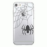 Voor iphone 7plus case hoesje transparante patroon achterkant hoesje dier halloween spider zachte tpu voor iphone 7 6splus 6plus 6s 6 5 5s