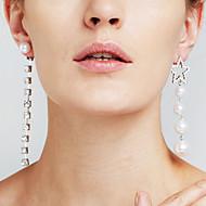 Dame Øreringe sæt Imiteret Perle Imiteret Diamant Euro-Amerikansk Movie smykker luksus smykker Mismatch Sexet Mode Plastik Stjerneformet