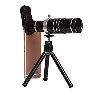 Universele clip-on camera lens kit voor iphone18x zoom telefoto lens voor iphone / Samsung / HTC en andere smartphones