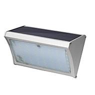 56 led solare inel de aluminiu aluminiu perete lampă 8w cu telecomandă curte lumini balcon balcon