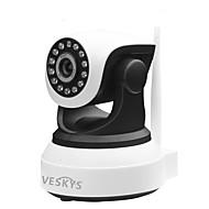veskys® 720p hd wi-fi ip kamera w / 1.0mp älypuhelin kaukovalvonta langaton tuki 128gb tf-kortti