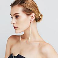 Damskie Kolczyki wiszące Pearl imitacja sztuczna Diament Sexy Modny Osobiste euroamerykańskiej Film Biżuteria Miedź Line Shape Biżuteria