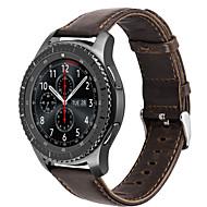 A hoco samsung sebességváltóhoz S3 határhúzott klasszikus heveder valódi bőr szalag óra csere smartwatch csukló karkötő sáv 22mm