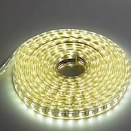 5m 220v higt fényes LED szalag rugalmas 5050 300smd három kristály vízálló fény bár kerti lámpák EU hálózati csatlakozó