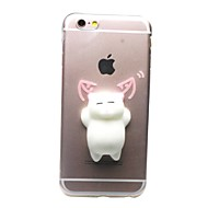 Voor iPhone X iPhone 8 iPhone 8 Plus iPhone 7 iPhone 7 Plus Hoesje cover Transparant Patroon DHZ squishy Achterkantje hoesje Kat 3D