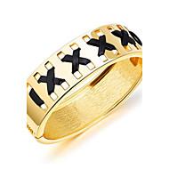 Damskie Bransoletki bangle Bransoletki cuff Biżuteria minimalistyczny styl Modny Pozłacane Stop Geometric Shape Biżuteria Na Casual