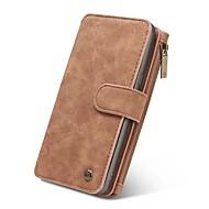 voor case cover kaarthouder portemonnee flip magnetisch full body case vaste kleur hard echt leer voor Samsung Galaxy Note 8 Note 5 Note 4