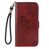 na portfel skrzynki na karty portfel posiadacza z podstawą flip wytłoczony pełny korpus przypadku solidny kolor sowa twarda pu skóra dla
