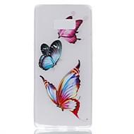 hoesje voor samsung notitie 8 cover gloeien in de donkere achterkant hoesje vlinder soft tpu