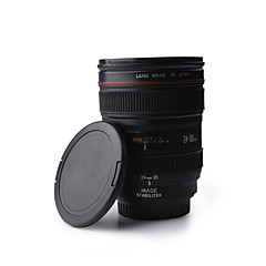 Kameran objektiivin muotoinen 350ml muovi kahvimuki