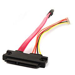 SATA 7+15P Female to SATA 7+4P Cable 0.18M