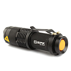 Lampe de poche LED CEDFX SK68 1-Mode CREE XR-E Q5 LED Flashlight (200LM, 1xAA/1x14500, Noir)