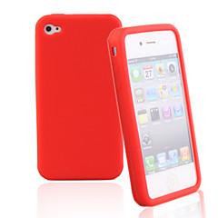 Silikoni suojakuori iPhone 4:lle (satunnainen väri)