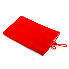 Trendy Cell Phone Vertical Velvet Bag Red (4.3 inch Wide)