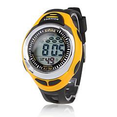 Herre Sportsur Digital LCD Kalender Kronograf Vandafvisende alarm Silikone Bånd Sort Brand