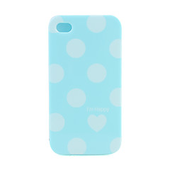 Protective Spot Pattern Ultrathin Back Case for iPhone4G (Blue)