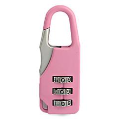 serrure mini-bagages à 3 chiffres (couleurs assorties)