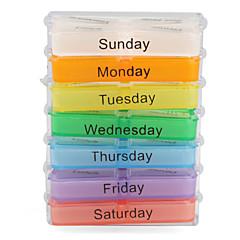 colorido 7 días cuadro de diseño de pastillas con cremallera