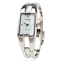 Dames Modieus horloge Armbandhorloge Kwarts Legering Band Bangle armband Zilver Wit Zwart Rood Blauw Roze