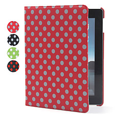 Protective Rotatable Dots Style PU Leather Case & Stand for iPad 2/3/4 (Assorted Colors)