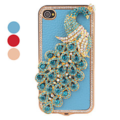 crystal case style peacock dla iPhone 4 i 4S (kolory Assorted)
