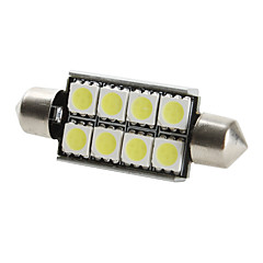 42mm 8x5050 smd hvitt lys LED-pære for bil CANbus (DC 12V, 2-pack)