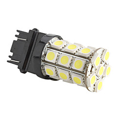 3156/3157 5050 SMD 27-LED 1.44W 260MA 12V White Light Car Bulb