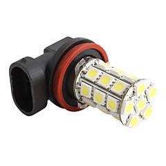 자동차 H11 5050 SMD 27-LED 1.44w 1,300밀리암페어 흰색 전구 (DC 12V)