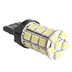 T20 5050 SMD 27-LED 1.44W 260MA White Light Bulb for Car (DC 12V)