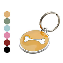 개 뼈 스타일의 개 이름 태그 (모듬 색상)