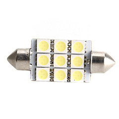 High-performance 41mm 9*5050 SMD White LED Car Signal Light