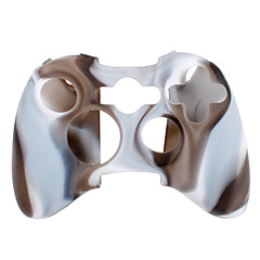Protective Dual-Color Silicone Case for Xbox 360 Controller (Brown and White)