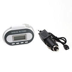 gesamte Spektrum FM Transmitter mit Digital-Thermometer und USB Power Port