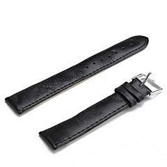 Unisex PU Leather Watch Strap 18MM(Black)