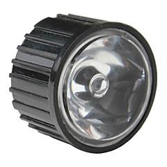 20mm 8 ° optik lensa kaca dengan bingkai untuk senter, lampu spot