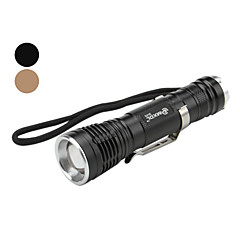MXDL SA-816 5-Mode Cree XM-L T6 LED Flashlight with Clip (600LM, 1x18650, Assorted Colors)