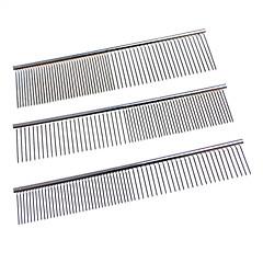 Aço inoxidável Grooming Comb para cães e gatos (SL)