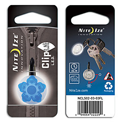 Nite Ize fiets ClipLit Safety Light (Patroon van de Bloem)