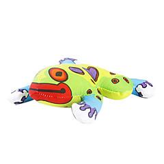 고양이 장난감 캣닙 개구리 직물 그린