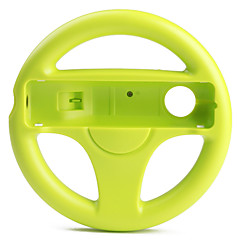 plast racing ratt spelkontroll för Wii / Wii U (grön)