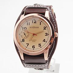 Masculino Relógio Elegante Quartz PU Banda Preta / Branco / Vermelho / Marrom marca-