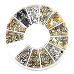 1pcs Metal Color Nail Decorations