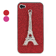 Eiffel Tower Pattern Hard Case for iPhone 4 and 4S(Assorted Colors)