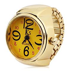 la mujer de aleación relojes analógicos de cuarzo (anillo de oro)