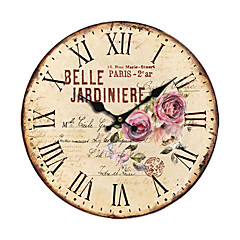 Land Floral Wall Clock