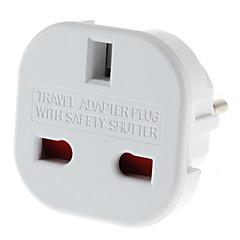 EU Plug naar meerdere Plug Universele Ronde Travel Adapter met Safety Sluiter (110-240V)