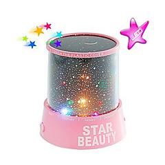 céu nocturno estrelado projector colorido luz da noite levou (cor aleatória, alimentado por três pilhas AA)
